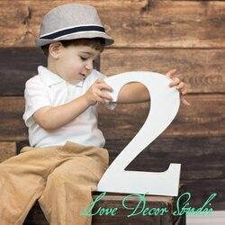 Maluch zdjęcie Prop numer dwa drugie urodziny dwa lub wiek znak duże drewniane numery urodziny rekwizyty wieku numerów
