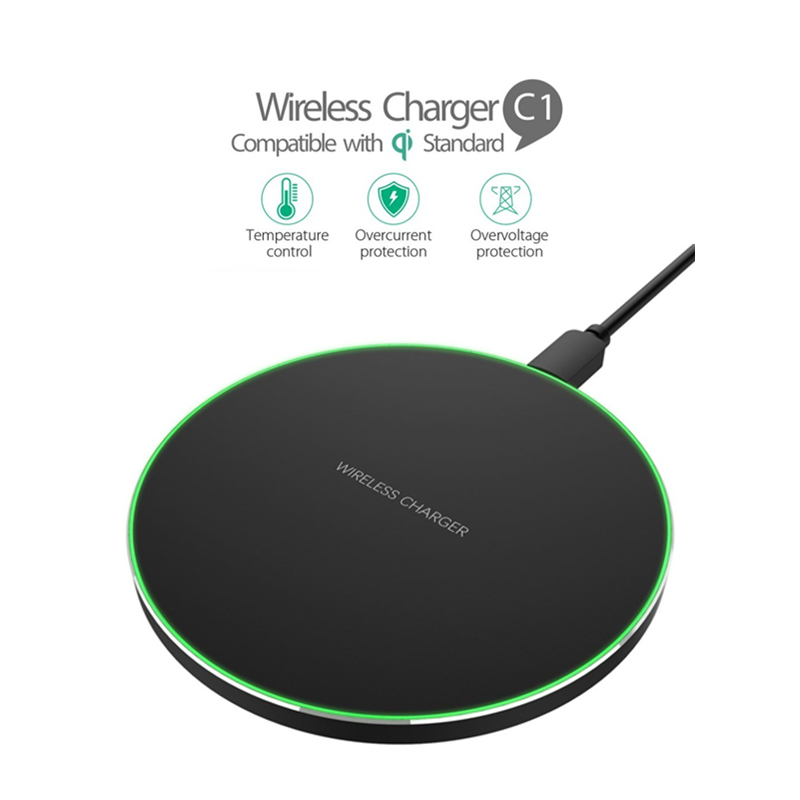 Qi Wireless Charger For Nokia 8 Sirocco LG g7 ThinQ V30 Charging Pad Dock Cradle Charger USB For Samsung Galaxy s10 s10e S9 S8|Mobile Phone Chargers| |  - title=