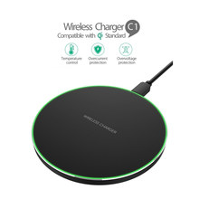 Qi Wireless Charger untuk Nokia 8 Sirocco LG G7 Thinq V30 Pengisian Pad Cradle Dock Charger Usb untuk Samsung Galaxy s10 S10e S9 S8(China)