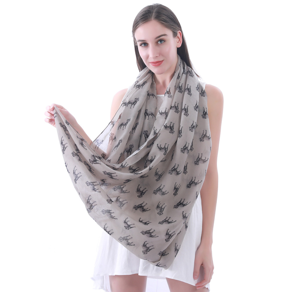 Staffordshire Bull Terrier Dog Print Womens Infinity Loop Tube Scarf Wrap Soft Lightweight Pet Puppy Gift Idea