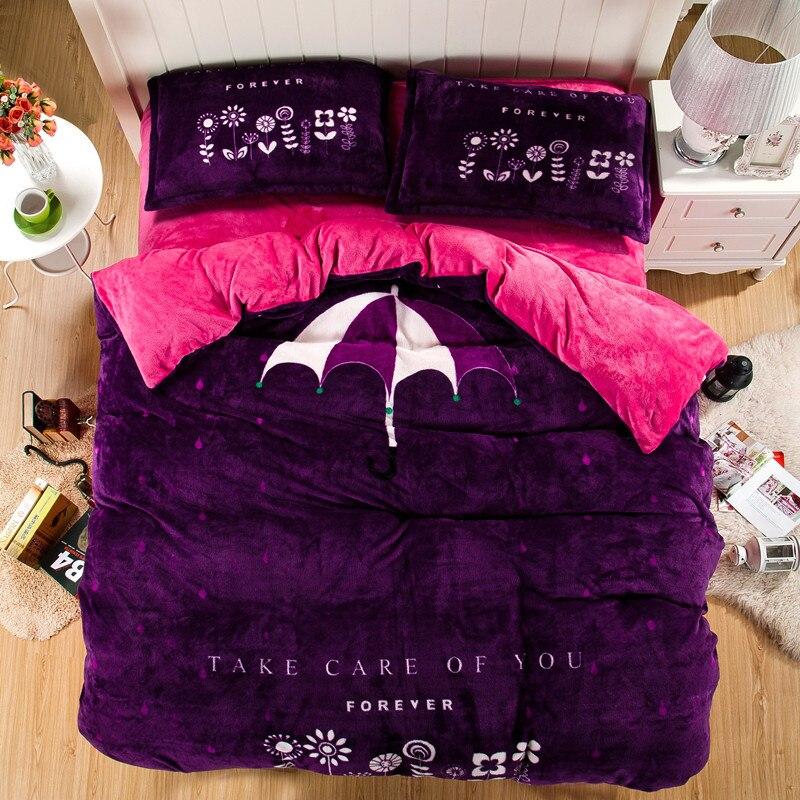 De luxe ensemble de literie En Soie 4 pcs literie linge de lit ensembles reine roi taille Couette/couette draps de coton couvre-lit bateau RAPIDE