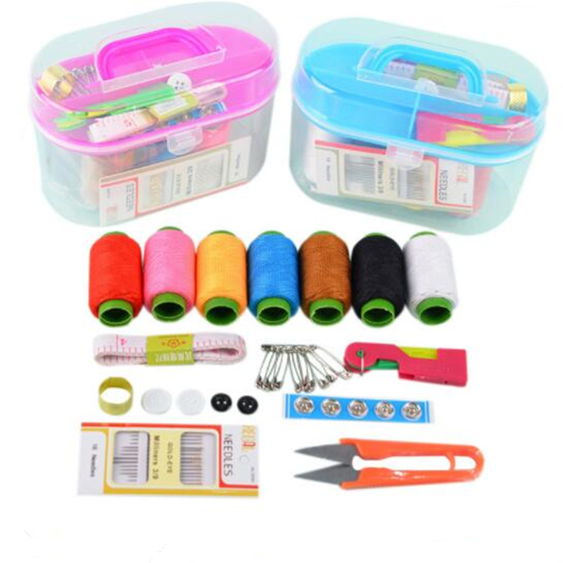 10 Styles Sewing Kit Storage Box For Needlework Storage And Home Decorations, Needles Sewing Thread Pins Thimble For DIY Apparel