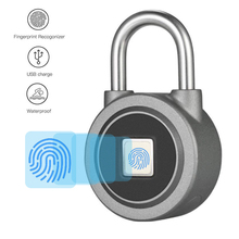 Fingerprint Padlock Bluetooth Connection Metal Waterproof Lock for House Door Backpack Suitcase Bike Office APP for Android/iOS