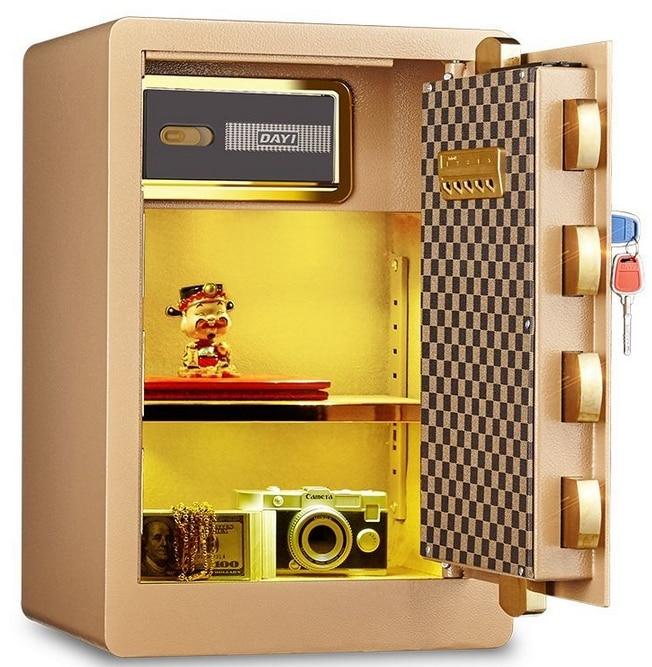 Smart safe mobile phone app remote monitor control office home 60cm height electronic lockers safes el izi okumali silah kasası