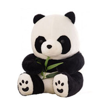 40CM Vehicle ornaments Panda plush toys