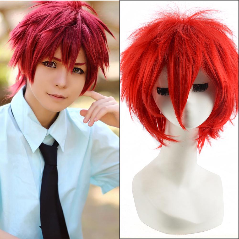 32cm Red Short Straight Haircuts Anime Akashi Seijuro