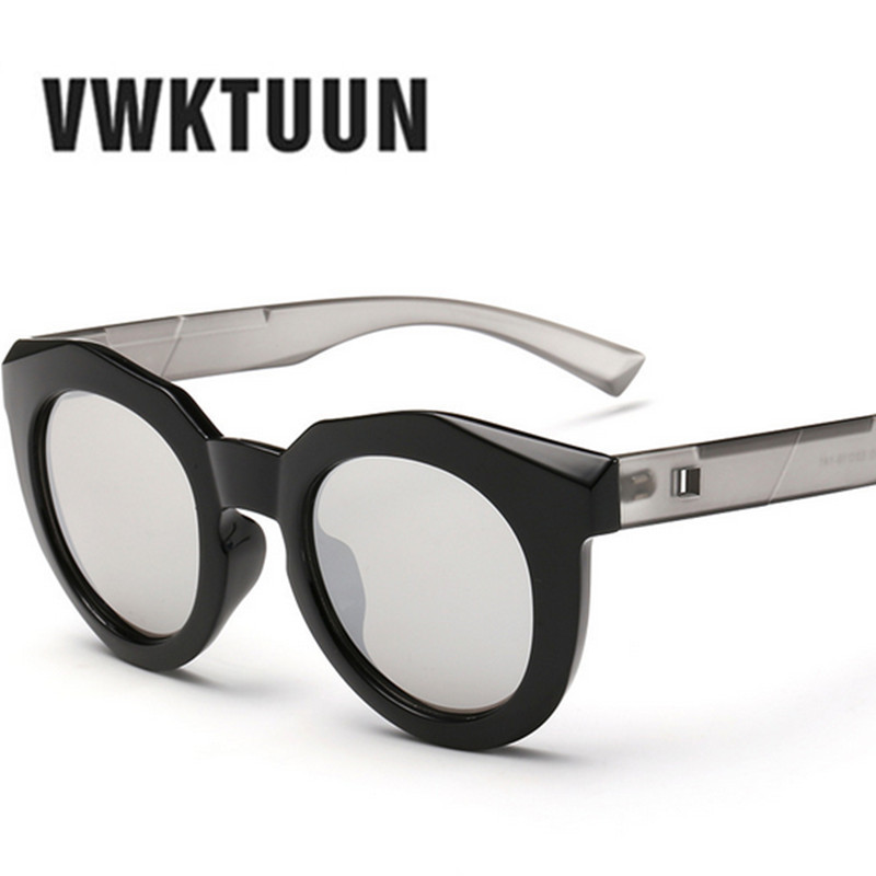 trendy mens glasses 9sie  VWKTUUN Sunglasses Women Round Designer Mirror Trendy Glasses New Sunglasses  Brand Designer Men Retro Circle Sun
