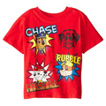 2-6T Cartoon Dog Baby Kids T-shirt for Boys Girls Short Sleeve Children Clothes Clothing Red B102