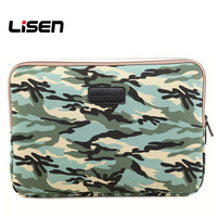 Lisen Camouflage Green Water Repellent Laptop Sleeve Bag For Macbook Air Ibm Sony Acer Lenovo Xiaomi