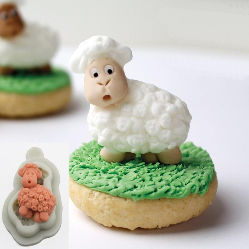 Remarkable Luyou 1Pc Sheep Lace Cake Mold Silicone Mold Fondant Mold Birthday Funny Birthday Cards Online Benoljebrpdamsfinfo