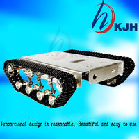 tank Robot DIY Chassis Smart track with two carbon brush motor for Arduino Stainless steel tanks, t100