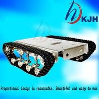 Precio Tanque Robot DIY chasis pista inteligente con motor de dos cepillos de carbono para tanques de acero inoxidable Arduino, t100