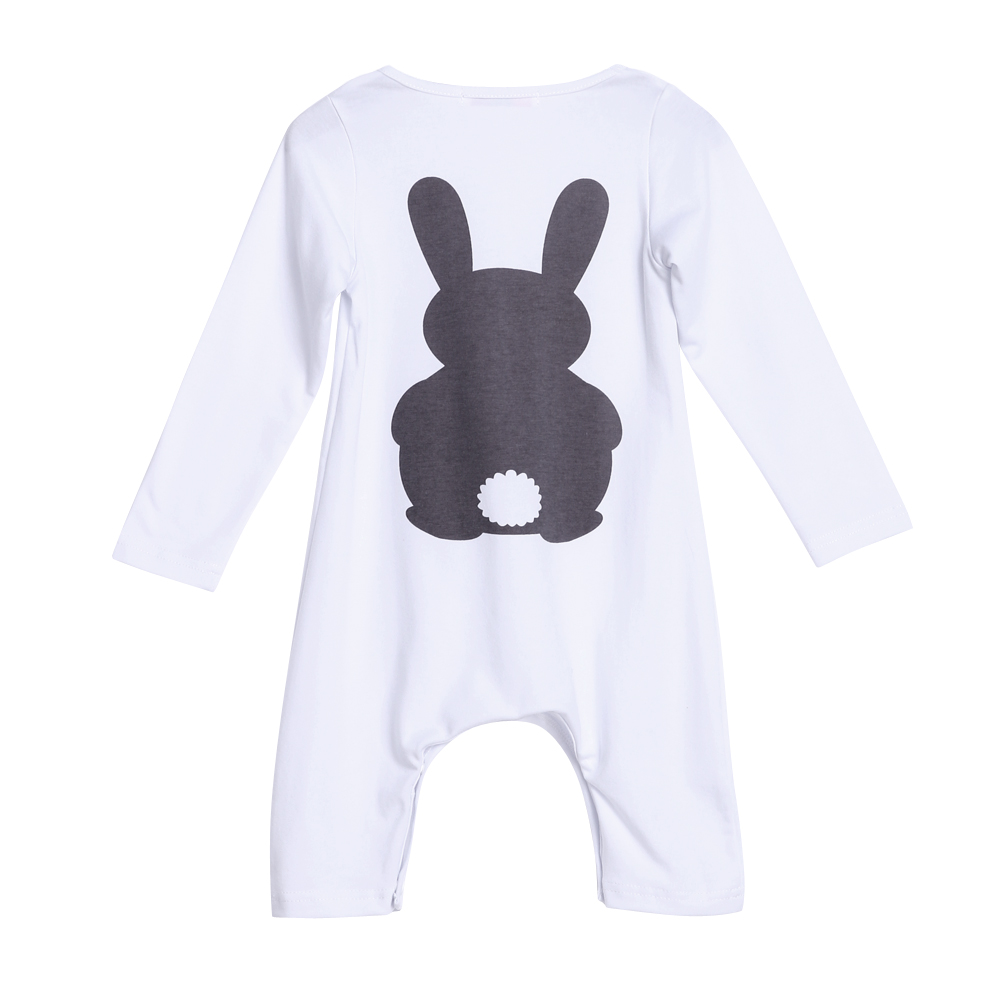 Newborn Baby Romper Boys Girls Baby Warm Rabbit/Fox Printed Rompers Jumpsuit Cotton Long Sleeve Spring Costumes Baby Clothes sr118 baby rompers 2016 spring newborn cotton pajamas clothes bebe long sleeve hooded romper infant overall boys girls jumpsuit