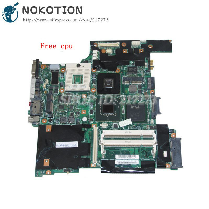 NOKOTION FRU 42W7649 For Lenovo Thinkpad T61 Laptop motherboard 14'' 965PM DDR2 NVS140M Discrete graphics Free cpu nokotion fru 04w6824 for lenovo thinkpad t530 laptop motherboard nvs 5400m graphics qm77 ddr3