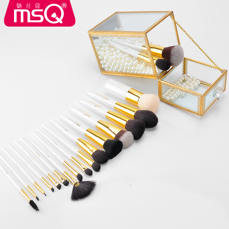 Professional Makeup Brushes Set Goat Hair Powder Blush Foundation Eye Shadow Blending Brush Cosmetic Tools Make Up Brush Kits new mini portable make up brush set connectable type eye shadow brush with box eye shadow tools 4pcs set makeup cosmetic brushes