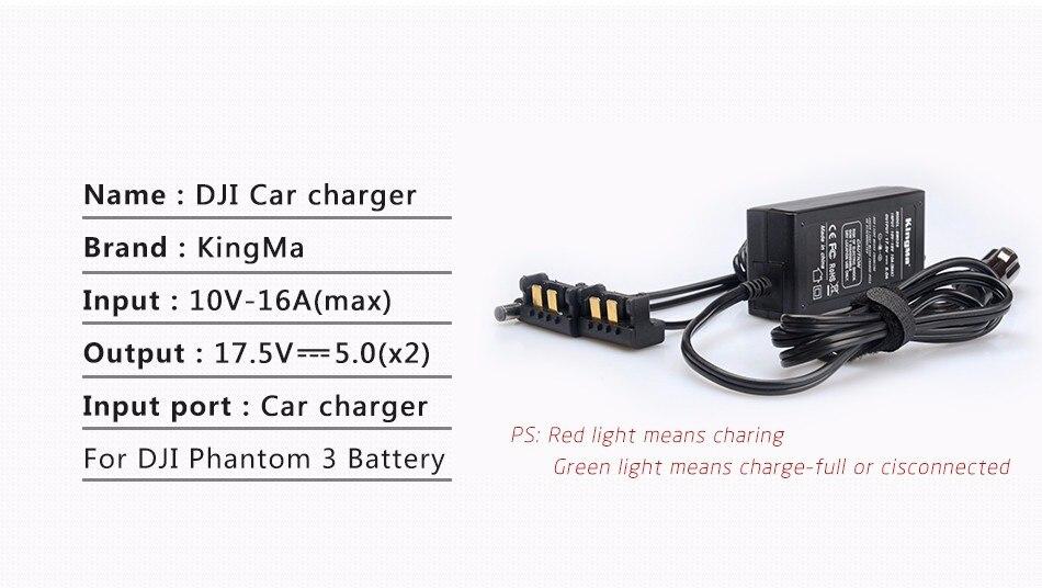 Auto Ladegerät Adapter für DJI Phantom3 Pro Professionelle Batterie