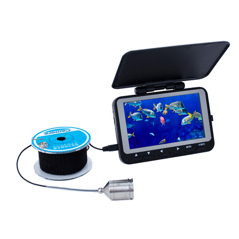 4.3 HD 800TVL CMOS Sensor Underwater Video Camera System Color LCD Fishing Camera Kit Fish Finder With DVR Function 15M Cable 7 tft lcd fishing camera dvr system 24ir leds fish finder 50m hd 700tvl underwater video camera system with night vision