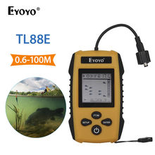 Eyoyo TL88E Fish Finder Detection Range 100M Waterproof Fishing Finder Sonar Frequency 200kHz Wired Alarm Transducer Fishfinder