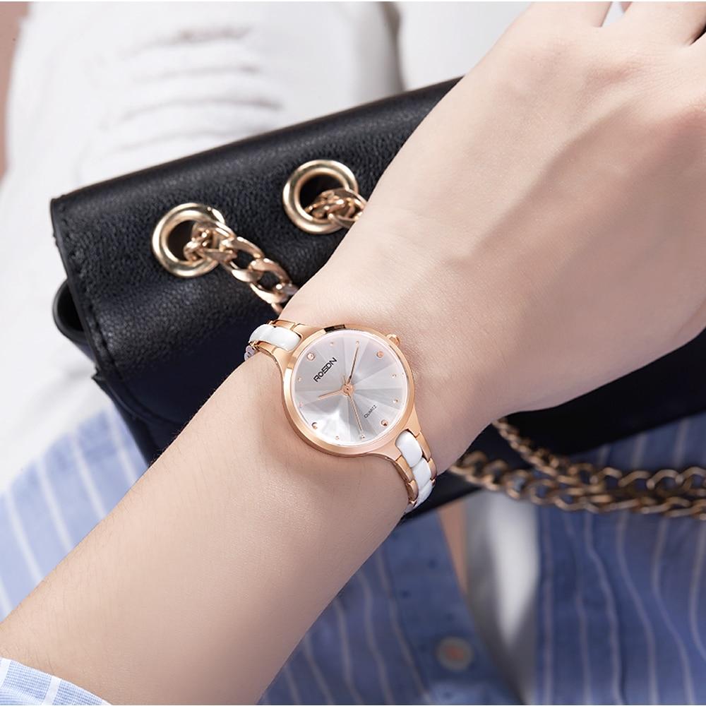 ROSDN helt ny mode lyx Elegant kvinna klockor enkel rosegold casual - Damklockor - Foto 3