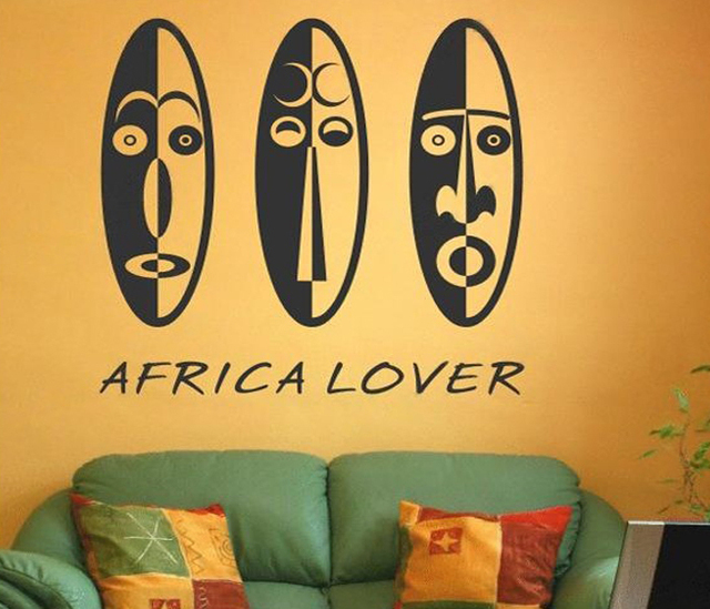 Hot African Love Wall Art Vinyl Decoration Removable Sticker Modern ...