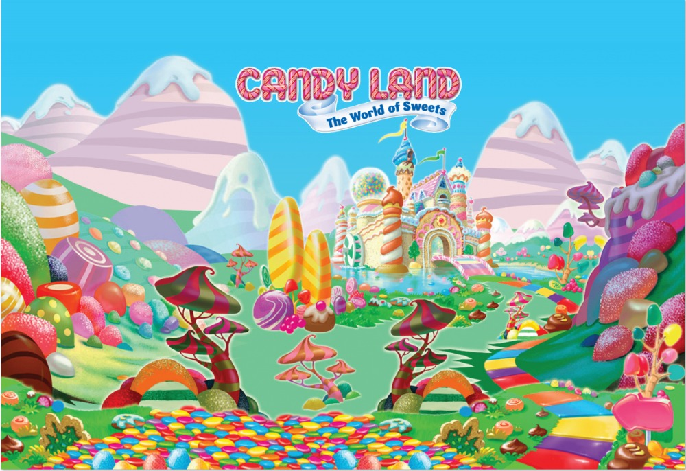 7x5ft Candy Land Sweets World Ice Cream Palace Castle