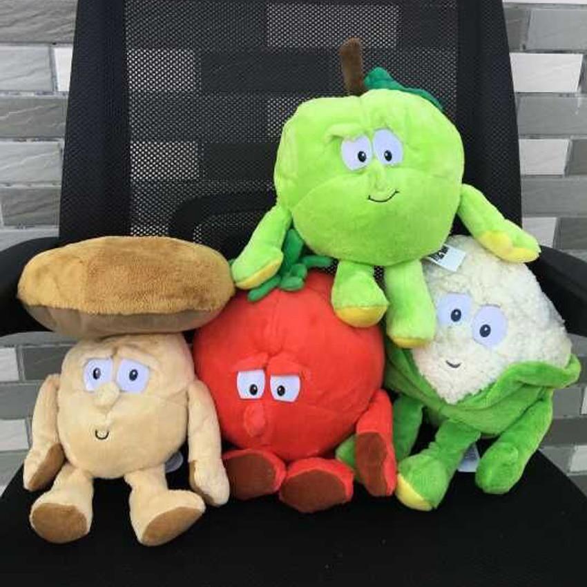 New Fruits Vegetables cauliflower Mushroom blueberry Starwberry 9 Soft Plush Doll Toy