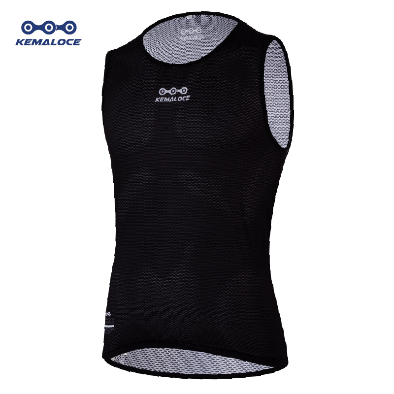 KEMALOCE MTB Road Summer Cycling Base Layer Mesh Black Bike Undershirts Outdoor Sports Mountain Downhill Dry Bicycle Base Layer