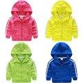LittleSpring outono primavera crianças roupas meninas manga comprida com capuz crianças outwear casaco esporte do bebê da menina do menino crianças roupas