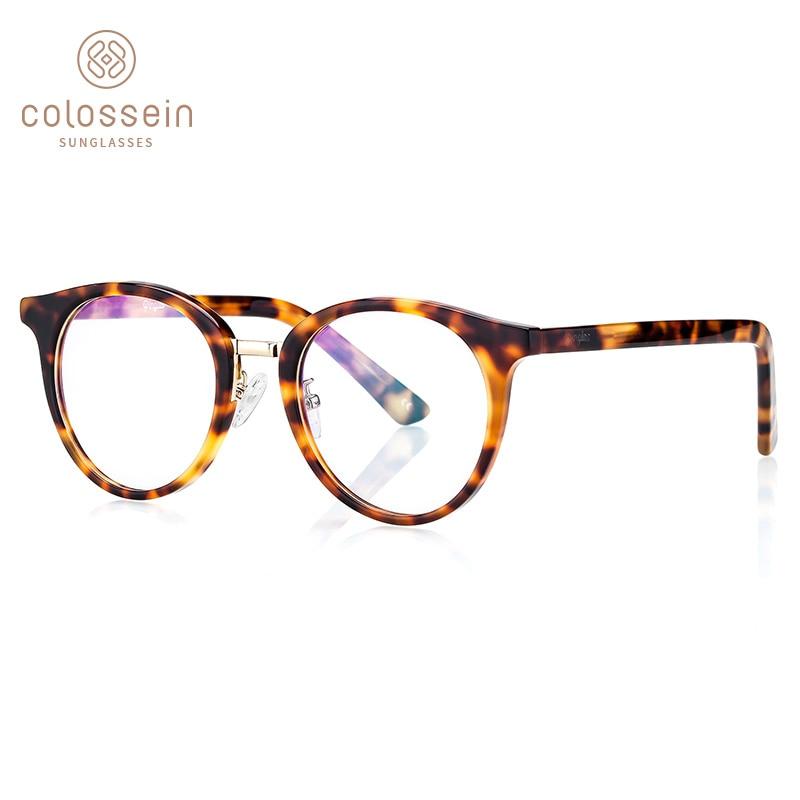 Colossein mode femmes lunettes rondes cadre marque Designers imprimer cadre hommes lunettes cadres classiques de haute qualité