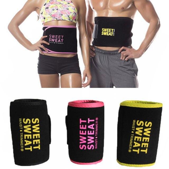 62907d1ad21 Waist Trimmer Belt Weight Loss Sweat Band Wrap Fat Tummy Stomach Sauna Sweat  Belt for walking jogging High quality