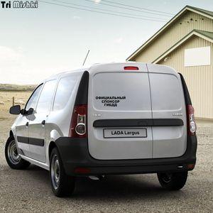Image 4 - Tri Mishki HZX001 10.6*30 centimetri 1 4 pezzi sponsor ufficiale di gibdd car sticker auto adesivi per auto