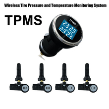 Wireless Tire Pressure Monitoring System Car TPMS with 4 Internal Car sensor