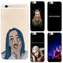 Billie Eilish Rainbow hard clear phone case cover for Samsung s8 s9plus S6 S7Edge S5 for iPhone 7 6s 8plus 5s 5c 4 X XS XR XSMAX customized diy phone case printed hard clear cover case for apple iphone x xs 8 8plus 7 6splus se 5 for samsung s8 s8plus s7 s6