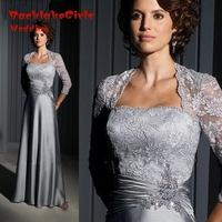Vintage Long Formal Mother of the Bride Pant Suits for Silver Lace Mother of the Bride Dresses With Sleeves Groom Weddings 2016