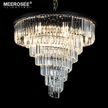 Moderne Kristallen Kroonluchter Luxe Crystal Opknoping Lampara Armaturen Drop Lustre voor Restaurant Cafe woonkamer