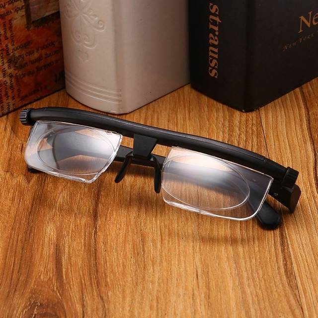 de852763bb5 Adjustable Glasses Non-Prescription Lenses for Nearsighted Farsighted  Computer Reading Driving Unisex Variable Focus Glasses