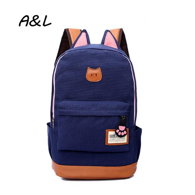 Women Backpacks High Quality Travel Bags Cartoon Cat Ear School Bags for Teenagers Girls Fashion Daypacks Rucksack Mochila A0054