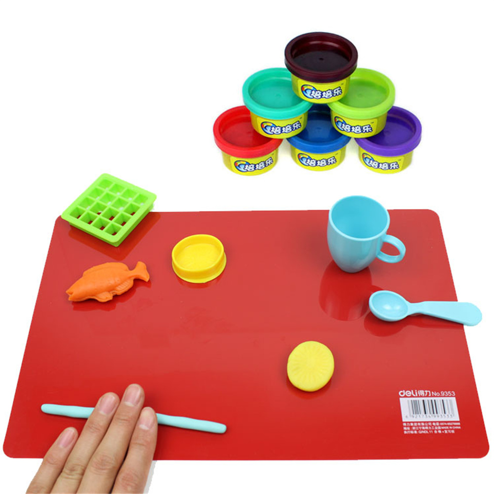9351 Mimeo Plate Small Mimeo Plastic Plate 20x30cm PP Cutting Mat Plasticine Pad Silly Putty Mat