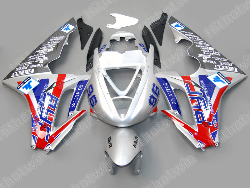 Injection mold 100% fit for Triumph daytona 675 silver red blue bodywork fairing kit daytona 675 NM12 high match injection mold fit for ducati 03 04 749 999 2003 2004 bodywork fairing kit brand logo decal 4 free gifts