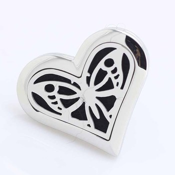 5pcs Butterfly Heart Car Diffuser Locket 316 Stainless Steel Car Aroma Locket Essential Oil Car Diffuser Lockets Christmas Gift
