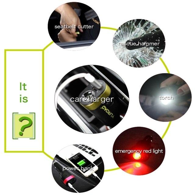 5 pièces de voiture à Charge rapide, 20W, 2a, Port USB, avec découpeur et dispositif d'éclairage, pour iphone, Galaxy s9, Samsung, Etc. |