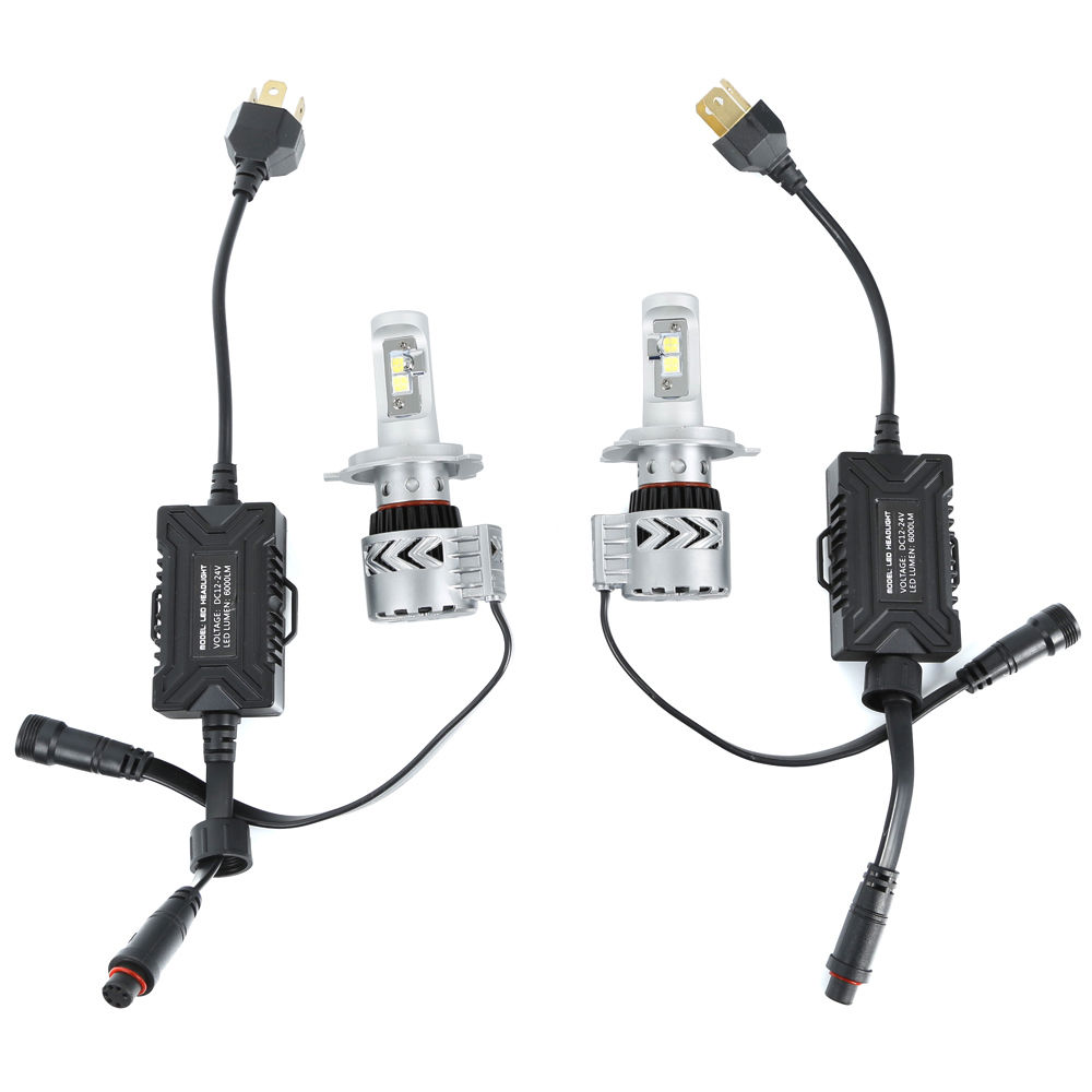 1Set Car Styling 72W H4 Motorcycle Car Truck LED Headlight Kit Lo or Hi Beam Bulb High Power Fog Light 6500K Driving Light 60w 6000lm h4 led light headlight vehicle car hi lo beam bulb kit 6000k white fe9