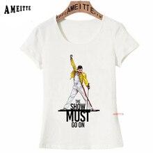 78ff0846d Freddie Mercury La Reina camiseta mujeres Hip Hop Rock Retro Hipster T  camisa Vintage mujer Casual