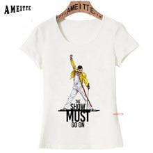 195a2778b Freddie Mercury The Queen Band T-Shirt Women Hip Hop Retro Rock Hipster T  Shirt Vintage Female Casual Tops Cute Cool Girl Tees