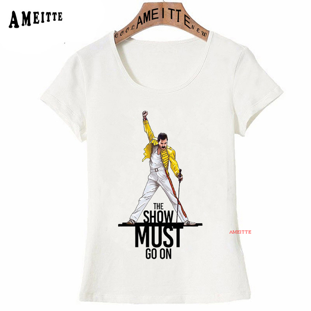 60ccfbcf0 Freddie Mercury The Queen Band T-Shirt Women Hip Hop Retro Rock Hipster T  Shirt Vintage Female Casual Tops Cute Cool Girl Tees