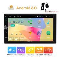 7 2Din Universal Android 6.0 Quad Core 1024*600 Car PC Tablet GPS Navigation Radio Video Audio Player Wifi Car Headunit(No DVD)