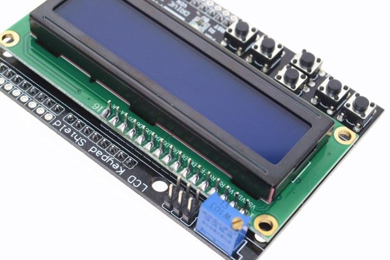 1PCS LCD Keypad Shield LCD1602 LCD 1602 Module Display For Arduino ATMEGA328 ATMEGA2560 raspberry pi UNO blue screen
