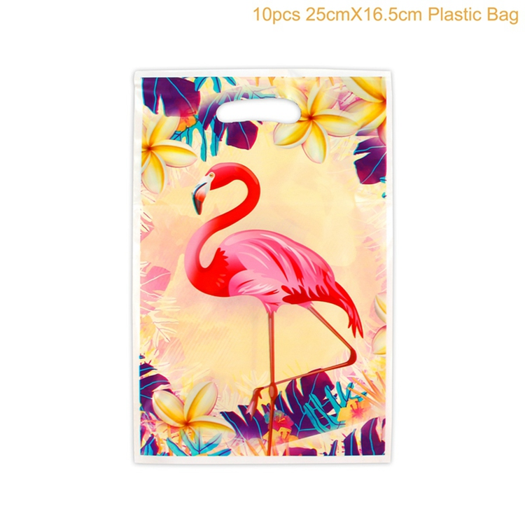 QIFU Flamingo Decoration Tropical Summer Beach Birthday Party Decor Events Luau Flamingo Hawaii Hawaiian Party Supplies Hibiscus 12