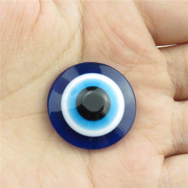 Χάντρες ακρυλικές μπλε μάτι σετ διάφορα μεγέθη