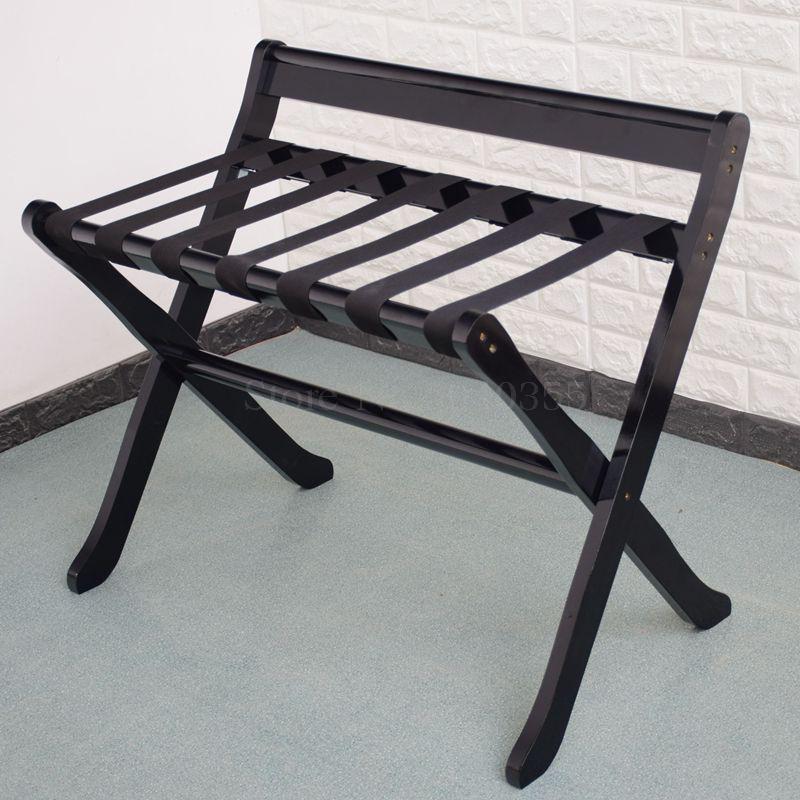 Мебель для отеля, цельная деревянная стойка для багажа, складывающаяся Одежда для хранения кроссовок, домашняя комната, спальня - Цвет: B